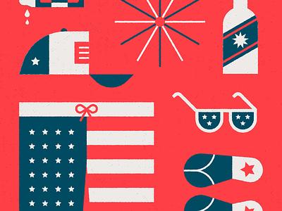 Usa Day independence fireworks celebrate fun popsicle hat beach swim america july 4th usa