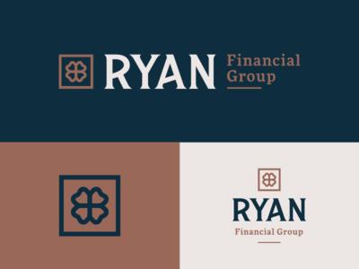 RFG mark logo branding brand lettering custom type irish clover group financial