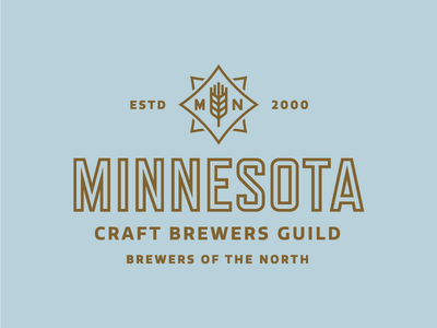 MN Craft Brewers Guild wheat mn mark logo identity lockup guild craft brewing brewery brand beer