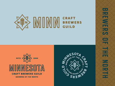 MN Craft Brewers Guild wheat mn mark logo lockup identity guild craft brewing brewery brand beer