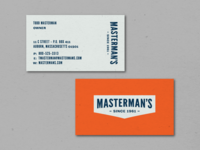 Masterman's Business Cards