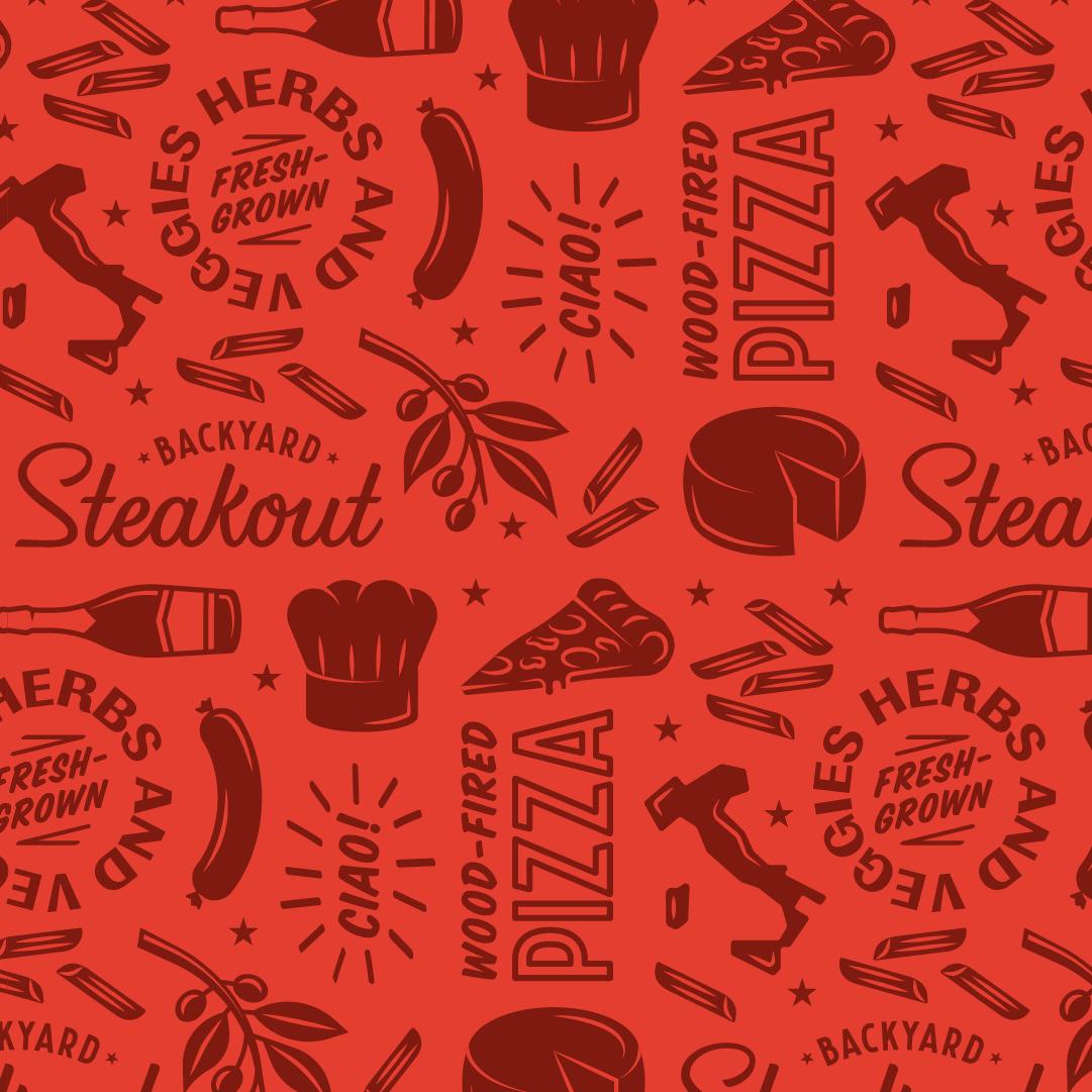 Backyard steakout socials italian pattern