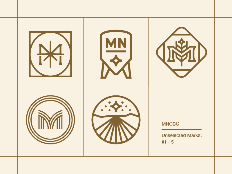 Unselected Marks: #1–5 mn rejects m brewery brew icon logomark brand branding symbol logo mark