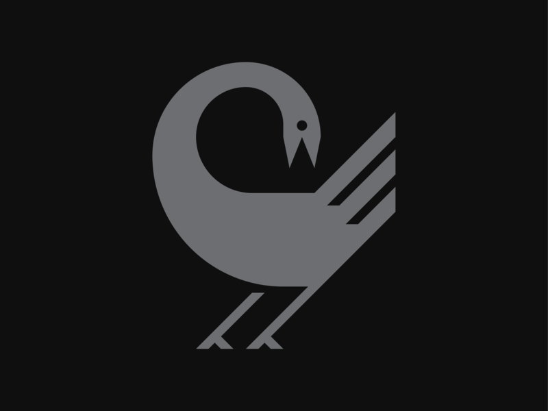 Birdy animal geometric sankofa illustration mark logo icon bird