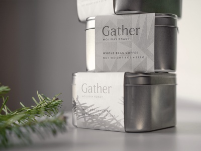 Gather Holiday Roast ice snow holiday winter geometric pattern logotype type logo branding packaging coffee