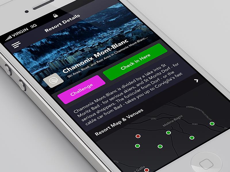 Resort details retina app iphone app iphone ios iphone 5 minimal flat map
