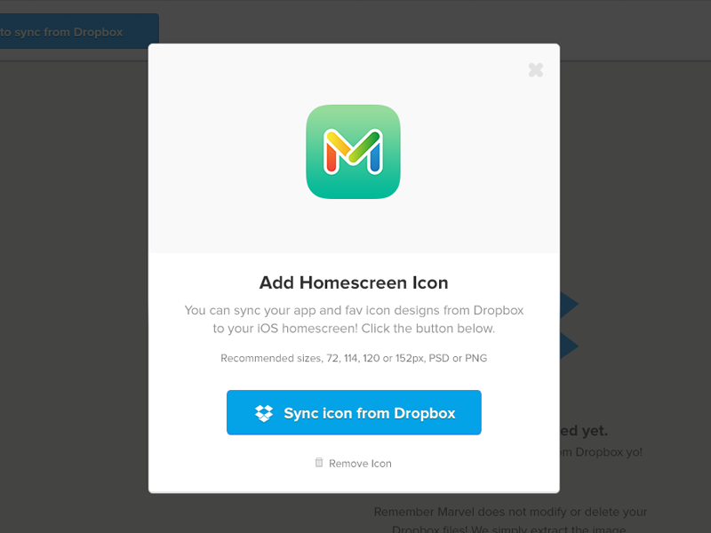 New Marvel feature - iOS app icon sync from PSDs in Dropbox! by ...