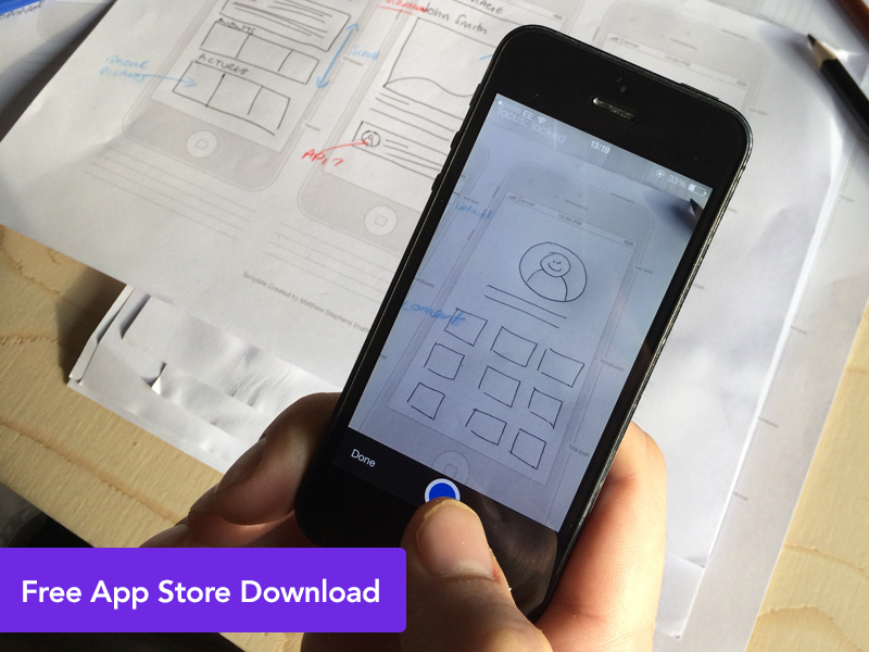 LAUNCHED! - Marvel iPhone Sketch Uploader iphone app sketch prototyping drawing free freebie prototype ui ux camera