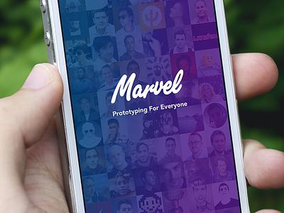 Marvel iPhone app update iphone splash default logo avatars iphone 5 ios7