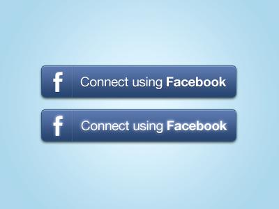 Facebook Connect Buttons PSD