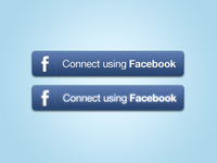 Facebook Connect Buttons PSD
