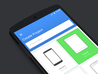 Material design - create project