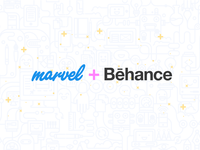 You can now embed Marvel prototypes on Behance!
