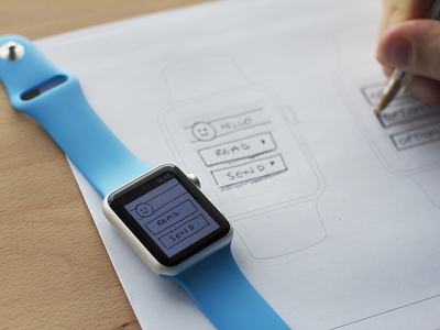 View your sketches and mockups on the Apple Watch watch web marvel free prototyping apple watch