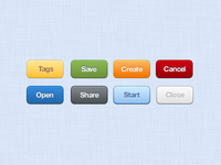Free Funky UI Buttons PSD