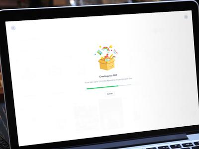 New download menu progress modal popup menu download