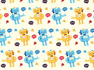 Bot background pattern pattern background wallpaper chat bot illustration