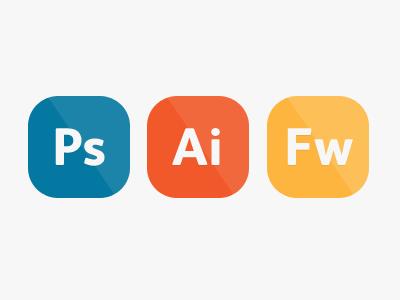 Supported Tools photoshop illustrator adobe fireworks flat icons minimal web ui clean