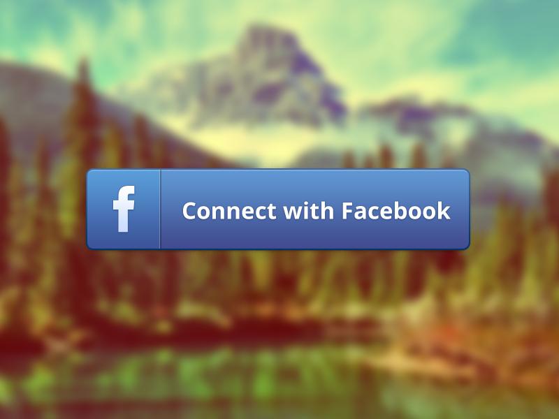 Facebook connect button - free psd freebie psd button free facebook connect open sans facebook ui retina iphone ios free psd