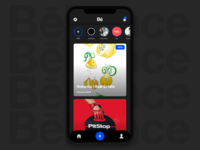 Behance app concept iPhone X
