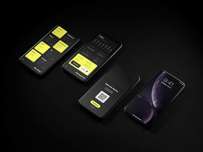 Ampère | App Features branding ux technology animation app animations black notifications interface ux-design ui ux ui app design concept behance