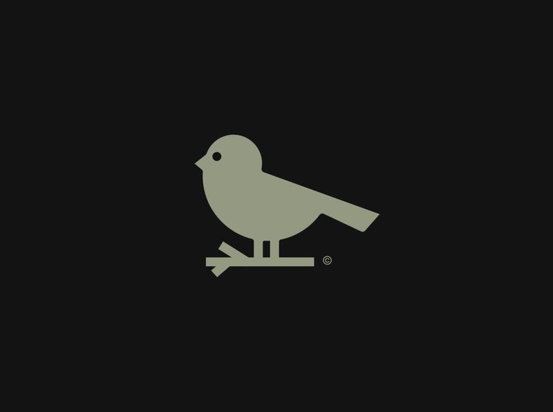 bird logo for a botanical brand