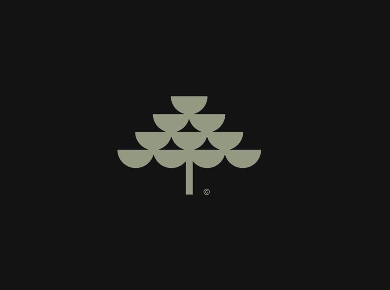 Minimal tree logo