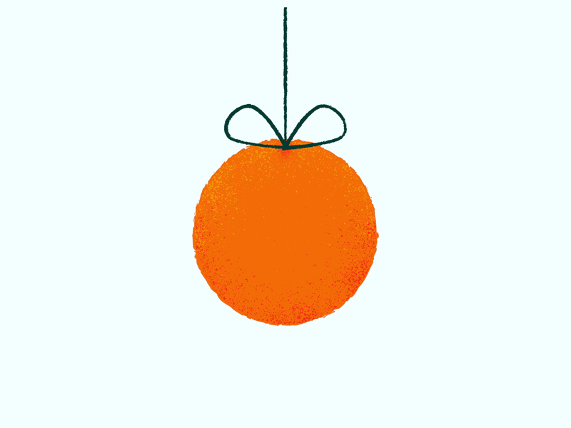 Christmas in Valencia christmas valencia spain doodle design ilustración art orange fruit
