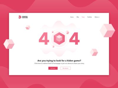 404 Not Found typography ux illustration design dwarves website ui illustrator