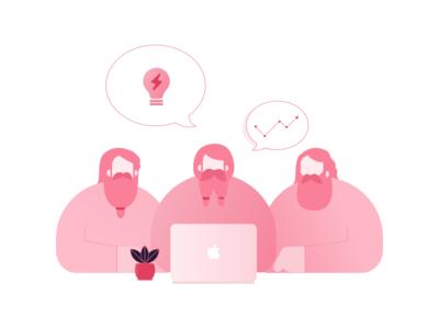 Dwarves Illustration pink clean website ui illustration dwarves illustrator