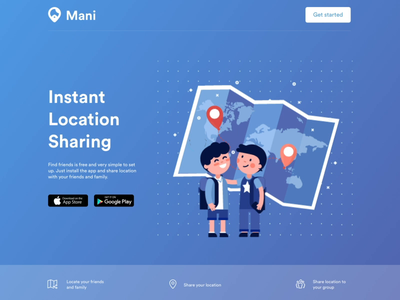 Mani App illustration motion branding website ui
