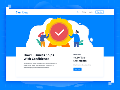 Carribox App cover design dwarves typography branding illustration website ui