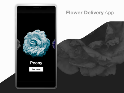 Flower Delivery App simple xd prototype app minimal ux dwarves design ui typography