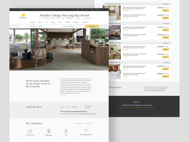 Hotel Website web design web hotel cover typography dwarves ui website