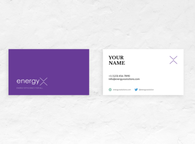 DEMO Business Cards for EnergyX