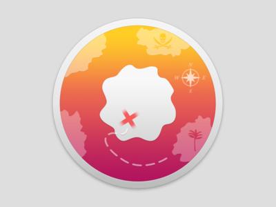 AppChest 2 Icon el capitan osx compass pirate island treasure map photoshop icon