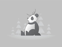 Christmas Panda Illustration