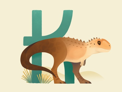 Kryptops jurassicpark stubby extinct animal bird dinosaur painting prehistoric illustration