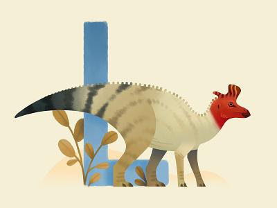 Lambeosaurus dinosaurs extinct animal dinosaur painting prehistoric illustration
