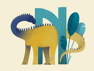 Nigersaurus rude animal dinosaur painting extinct prehistoric illustration