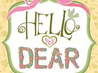 Dear Floral Card Yellow