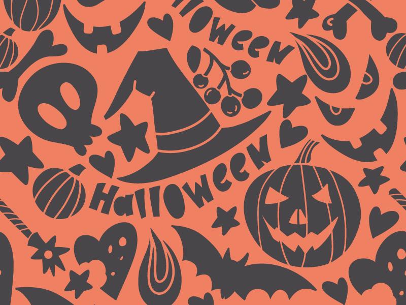 Halloween Seamless marushabelle flat halloween vector seamless pattern