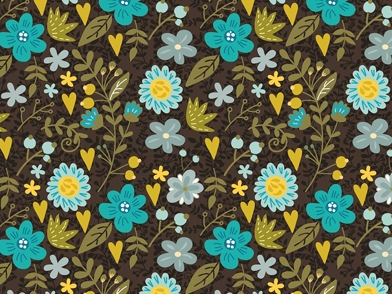 Floral pattern marushabelle flat sweet vector pattern flowers