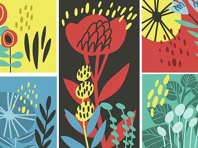 Flowers design flower pattern flat vector marushabelle