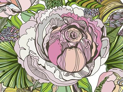 Rose pattern rose flower pattern vector marushabelle