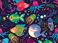 Sea Magic Bright Pattern