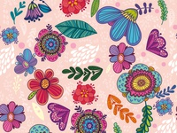 Floral pink pattern