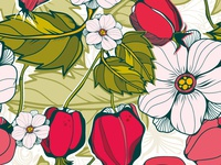 Spring blossom pattern