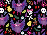 Vampire Bat Pattern