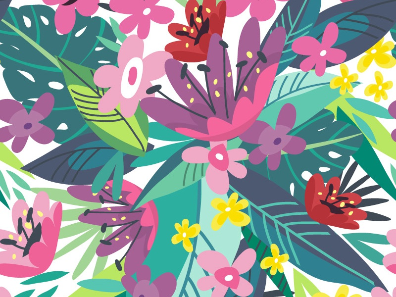 Tropical Pattern tropical flowers pattern summer marushabelle